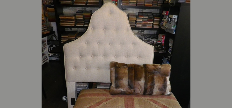 Custom Headboards, Pillows and Otttomans