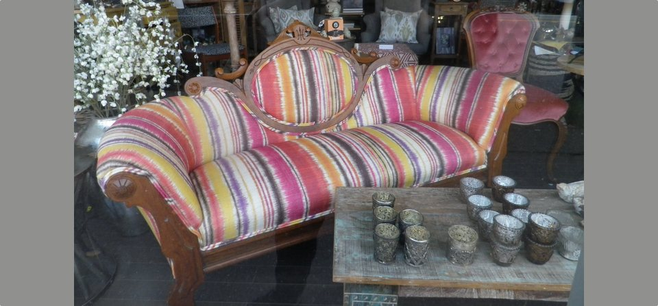 Fun Stripes revive a Classic Settee